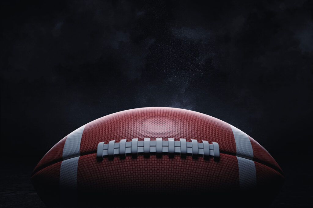 3D Rendering Football High Definition
